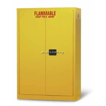 45 gal Flammable Storage Cabinets Doors: 2 manual 65 x 43 x 18 (in.)  Doors: 2 manual  No. of shelves/Trays: 2(F105)