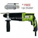 Worx WU340D Rotary Hammer 3-Mode +Free Duster (12  Months Warranty)