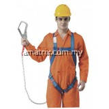 BH7886-CBU-LOH Full Body Harness Built-in Lanyard & Large Hook