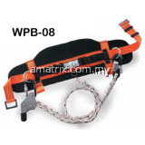 Working Position Belt -2-pcs lateral positioning D-rings-Orange/Black