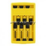 STANLEY  6-PIECE BI-MATERIAL HANDLE PRECISION SCREWDRIVER SET