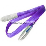 WARRIOR DOUBLE PLY POLYESTER FLAT WEBBING SLING 1TON X 8M (L) WITH REINFORCED LIFTING EYES (Violet)