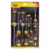 Stanley Cushion Grip 2 Screwdriver Set: 8 Piece Set