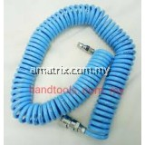 Polyurethane PU Recoiling Air Hose with Coupler 6Meter