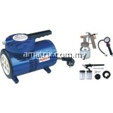 Hymair AS06KB Mini Air Compressor Starter Kit - Combo Set