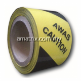 Warning tape 3″ (Black & Yellow)Width x length: 50mm x 33m