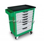TOPTUL GCAJ0012 W/7-Drawer Tool Trolley - 227PCS Mechanical Tool Set