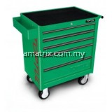 W/5-Drawer Tool Trolley – 157PCS Mechanical Tool Set (GENERAL SERIES) GREEN–(GCAJ0006)