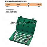 SATA FLEX-SOCKET SET (METRIC), 6PC (09037)