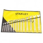 STANLEY 87-036  SLIMLINE COMBINATION SPANNER SET WRENCH SET 14PIECE 8MM-24MM(8,9,10,11,12,13,14,15,16,17,19,21,22,24MM)