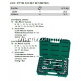 "SATA 09060-6 24PCS X 1/2"" SOCKET SET 6PT"