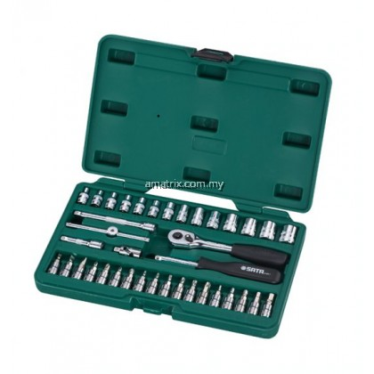 "38 Pc. 1/4"" Drive 6 Point Metric Socket Set(09002)6pt. Metric Sockets 3.5, 4, 4.5, 5, 5.5, 6, 7, 8, 9, 10, 11, 12, 13, 14 mm"