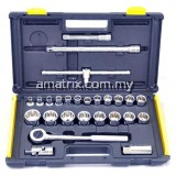 "Stanley 86-478 12 Point 26 pcs 1/2dr""Dr (1/4""- 1-1/4"") Inch Socket Set"