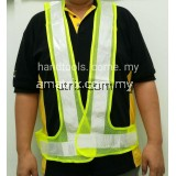 REFLECTIVE STRIPE VEST Light Green (mesh)TAS-RSVM-YL