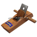 WOODEN MINI PLANE To flatten, reduce the thickness of, and impart a smooth surface to a rough piece of lumber or timber(63-PS127)