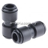 PM0410E John Guest PM Pneumatic Straight Tube-to-Tube Adapter, Push In 10 mm,Equal Straight Connectors