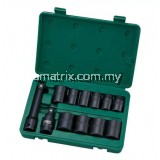 "SATA-09008 12PC. 1/2"" DR. IMPACT SOCKET SET (S.A.E.) 7/16, 1/2, 9/16, 5/8, 11/16, 3/4, 13/16, 7/8, 15/16, 1"""
