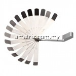 SATA-09402 16 Pc. Feeler Gauge Set 0.05-1.00mm(0.05, 0.10, 0.15, 0.20, 0.25, 0.30, 0.35, 0.40, 0.50, 0.55, 0.60, 0.70, 0.75, 0.80, 0.90, 1.00mm)