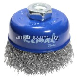 CRIMPED STAINLESS STEEL WIRE CUP BRUSH M10X1.5(33-SS075)