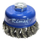 33-NC075 TWISTED KNOT BOWL CUP BRUSH 75XM10X1.5MM