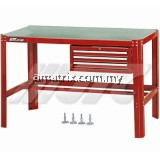 W X D X H: 1565 X 766 X800MM WORKBENCH WITH 3 DRAWER CHEST
