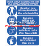 AMMS8810 WEAR SUITABLE PROTECTIVE EQUIPMENT Safety Signages Width X Height: 300 X 400mm