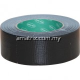 50mmx50M BLACK CLOTH TAPE  Seals from air and completely waterproof - unaffected by humidity. Made from a lamination of polythene film cotton cloth and extremely strong rubber resin adhesive(AVN9813260K)