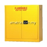 30gal Flammable Storage Cabinets Dimension: 44 x 43 x 18 (in.)  Doors: 2 manual  No. of shelves/Trays: 1(F104)