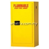 4gal Flammable Storage Cabinets22 x 17 x 17 (in.) Doors: 1 self-closing No. of shelves/Trays: 1(F111)