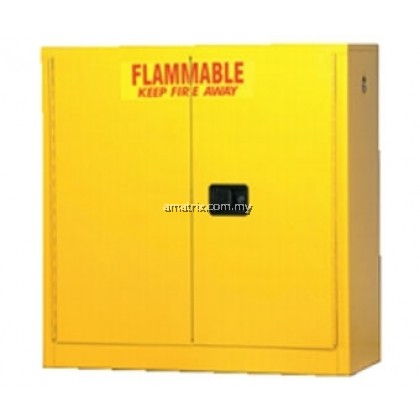 16 gal Flammable Storage Cabinets 44 x 24 x 18 (in.) Doors: 1 manual No. of shelves/Trays: 1 (F103)