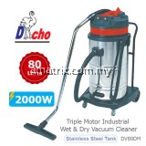 DACHO DV70DM Double Motor Industrial Wet & Dry Vacuum Cleaner (2000W/70Litres)