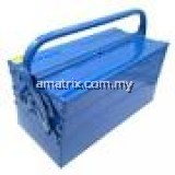 Metal Tools Box Professional 3 Tiers 5 Trays Cantilever Tool Box (420mm x 200mm x 200mm)