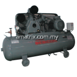 Hitachi Bebicon Air Compressor oil flooded, automatic unloader, horizontal type.10hp, 8Bar, 280kg 7.5P-9.5V5A (Three Phase)