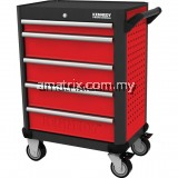 "KEN5942140K RED-28"" 5 DRAWER PROFESSIONAL ROLLER CABINET WITHOUT TOOLS SET"