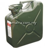 HEAVY DUTY STEEL JERRY CAN (GREEN)Manufactured from 16 swg steel. Suitable for storing petrol. Suitable for storing and transportation of diesel,