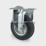 CRW-080 Dia.(mm):85 Steel Fixed Bracket With Black Rubber Wheel