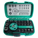 "22pcs Ratchet Wrench Bit 1/4"" Set PRO'SKIT SD-2319M"