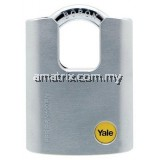 YALE Y122/50/123/1  50mm Outdoor Brass / Satin Closed Shackle Padlock