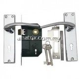 Chrome Lever Mortise Lock Yale L315