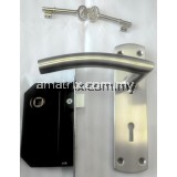 Two Lever Satin Steel Mortise Lock YALE L314SS