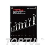 45° Offset Double Ring Wrench Set - POUCH BAG - BLACK (Mirror / Satin Chrome Finished)GPAH0802