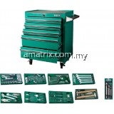 140 PCS TOOLS SET WITH 5 DRAWER ROLLER CABINET