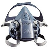 3M 7502 Silicone Double Respirator (MEDIUM)