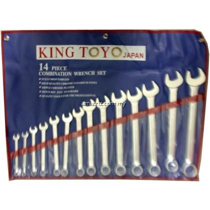 "kingtoyo  KTCWS-14  14pcs Combination Wrench Set (3/8""-1-1/4"")"