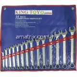 King Toyo KTCWS-824 14pcs Combination Wrench Set (8-24mm)