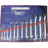 12pcs 45º Offset Double Ring Wrench Set  6-32mm KTDRS-12