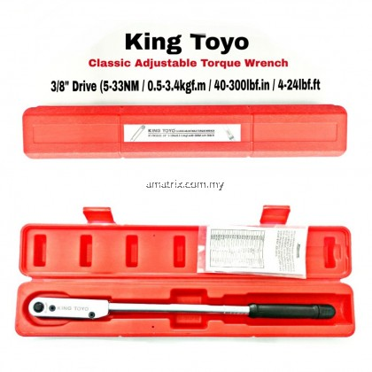 """King Toyo KT-TW3242S 3/8"""" TORQUE WRENCH 5-33NM"""