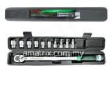 TOPTUL GAAI1102 11PCS 1/2´ DR. Torque Wrench Set 29.5-154.9FT/LB (40-210NM) 1/2˝ Dr. 6PT Flank Socke