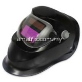 SOLAR ENERGY AUTOMATIC CHANGEABLE LIGHT ELECTRIC WELDING PROTECTIVE HELMET WITH SOLID COLOR TYPE (BLACK)-(