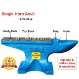 75KG Cast Iron Steel Single Horn Anvil Bench